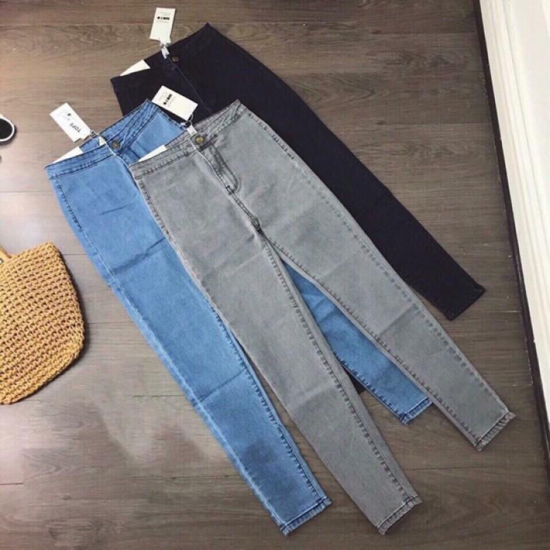 Quần Jeans Nữ Lưng Cao Siêu Co Giãn