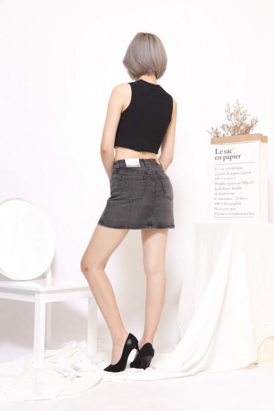 Chân Váy Jean 2 Màu Đen Và Xám