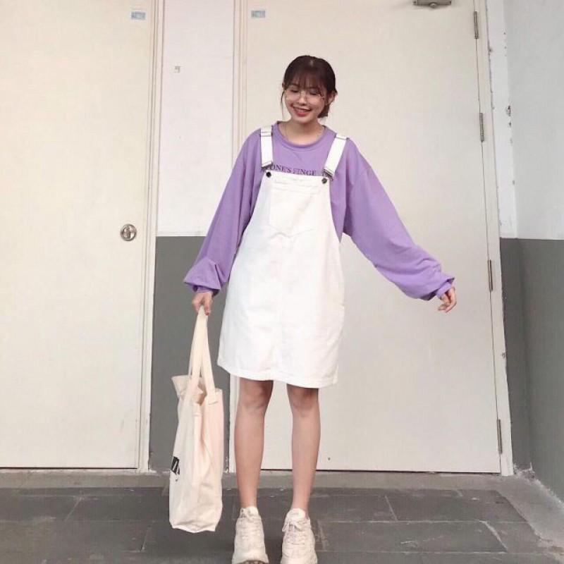 Yếm Váy Jean Rộng 2 Dây Cao Cấp 3 Màu Cá tính 093