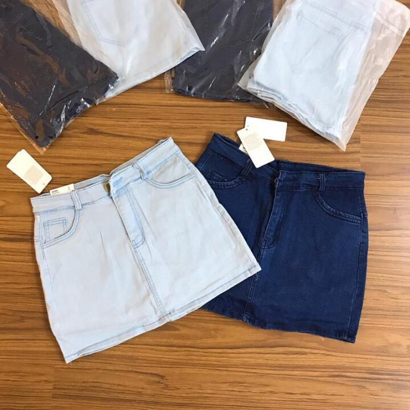 Chân Váy Jean 2 Màu Đậm Nhạt